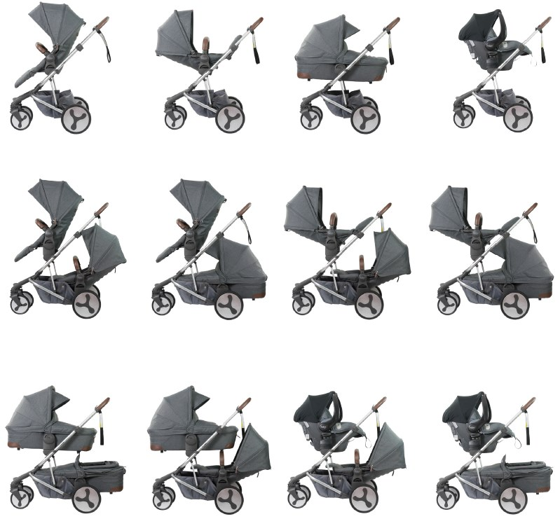 Jogger Stroller With Bassinet Britax Flexx Luv Baby Warehouse
