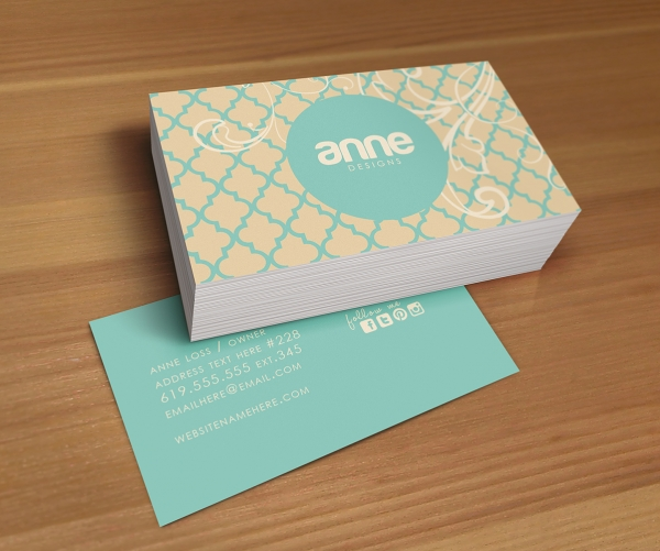 Anne double sided business card - Business / Business Cards Luvly