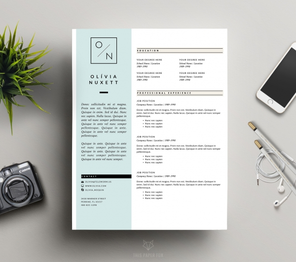 Resume Template Creative CV Design and Cover Let - Business