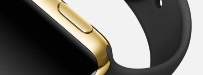 Apple-Watch-Or-jaune-Bracelet-noir_luxe