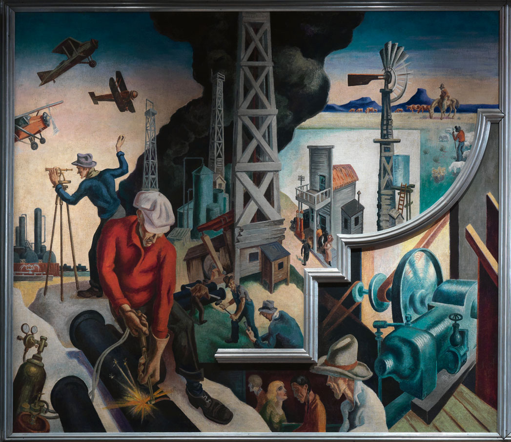 Thomas hart benton s america today mural luxe beat for America today mural