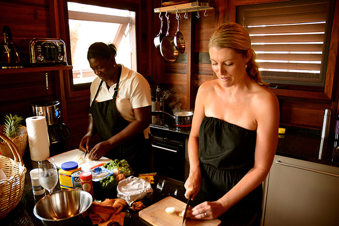 Secret Bay hosted a cooking class with head Chef Josie