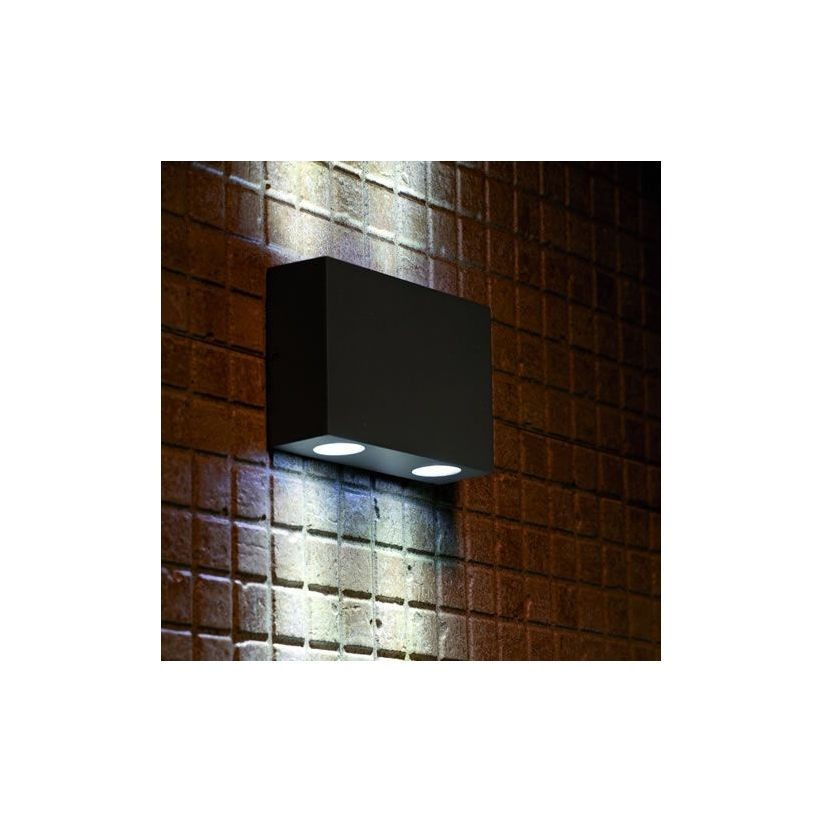 Applique Exterieur Fonte Aluminium Applique Led Marat 2 Up And Down - Lux Et Déco, Applique
