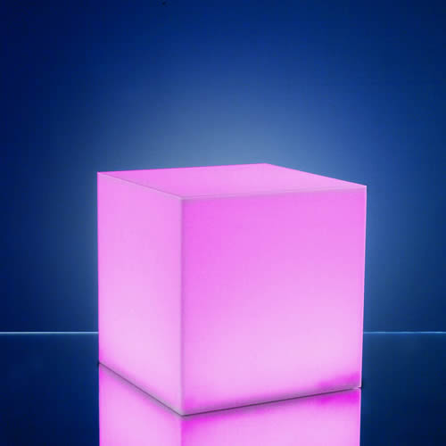 Lumiere Exterieur Sans Fil Cubes Lumineux Led 15 X 15 Cm Nirvana - Centre De Table