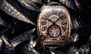 Franck Muller Enhances Its Croco Collection With Elegant Gold, Iron & Black Croco Watches