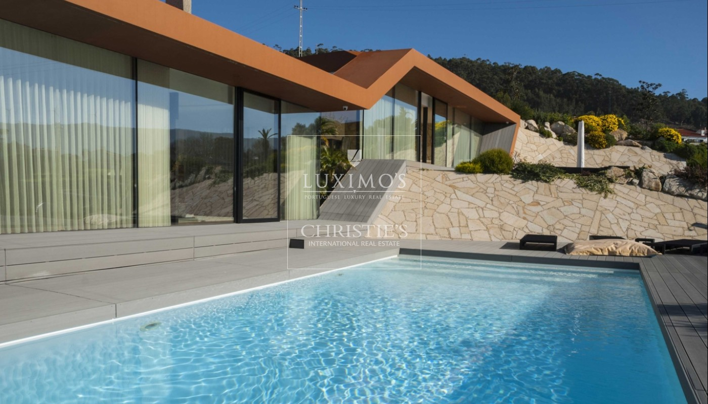 Pool And Jacuzzi New Villa With Swimming Pool And Jacuzzi In Afife Portugal A Luxury Home For Sale In Viana Do Castelo Viana Do Castelo Property Id Cs00089