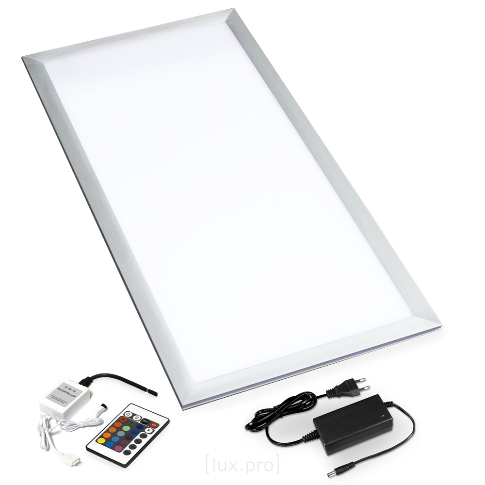 Led Panel Dimmbar Fernbedienung Lux.pro® Led Rgb Panel 60x30cm Ultraslim Farbwechsel