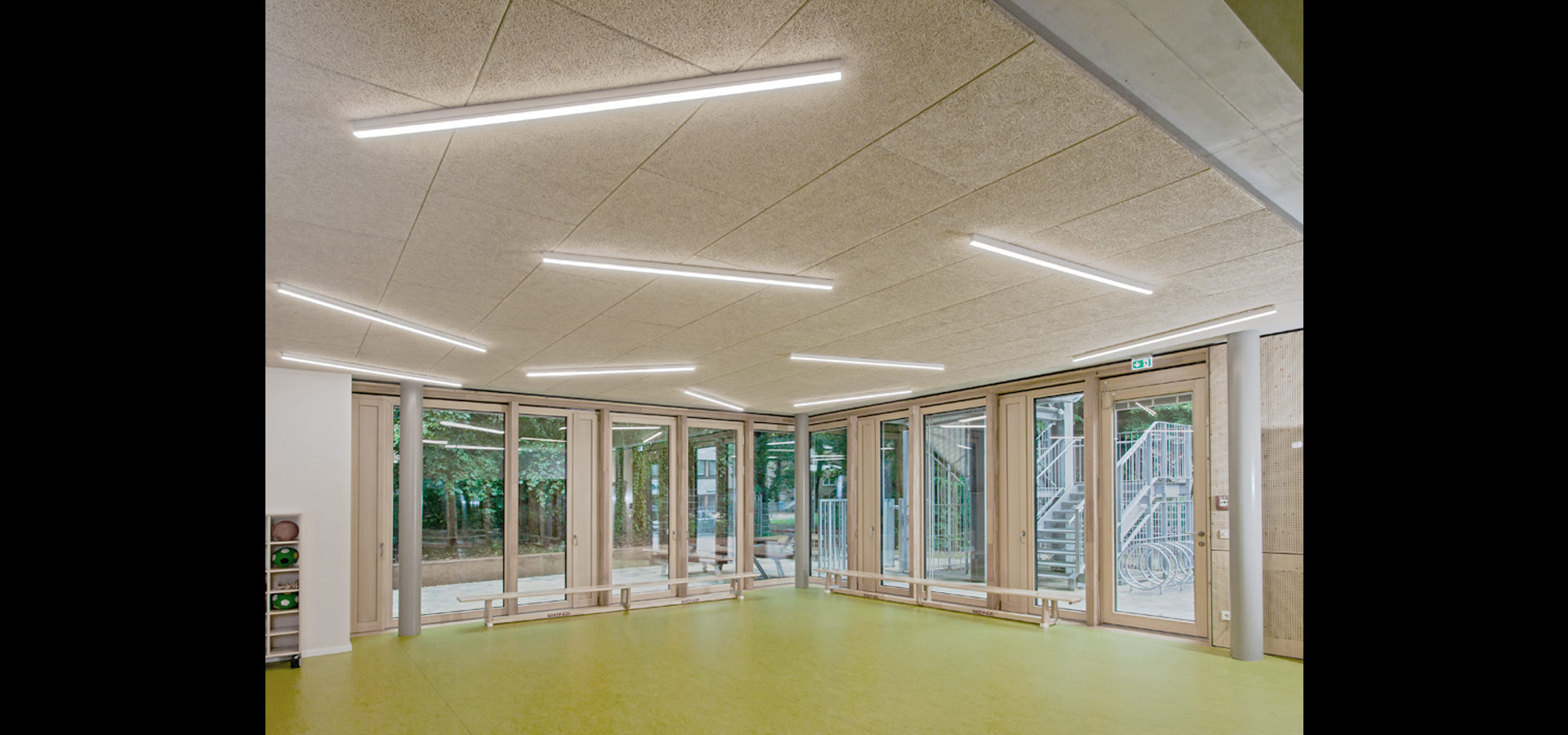 Flurbeleuchtung Led Led Lighting With Light Band For Daycare Centre By Luxsystem