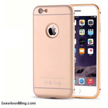 Gold iPhone Case with Metal Frame and removable Bevel Back for iPhone 6 / 6 Plus