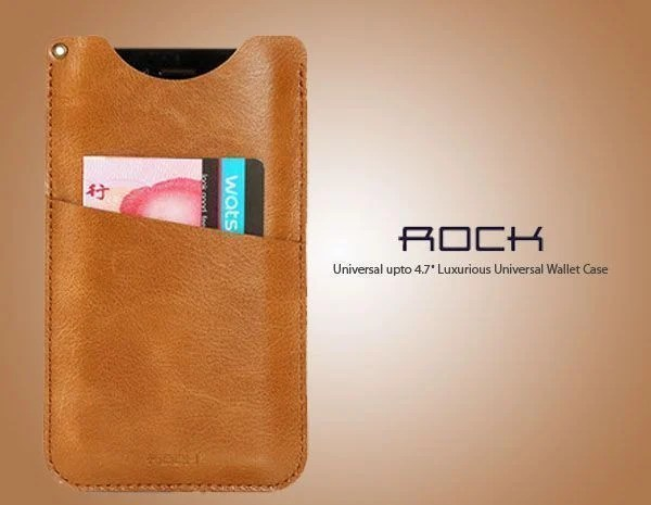 "Rock ® Universal Upto 6"" Universal Pouch Made Of Pu And Microfiber"