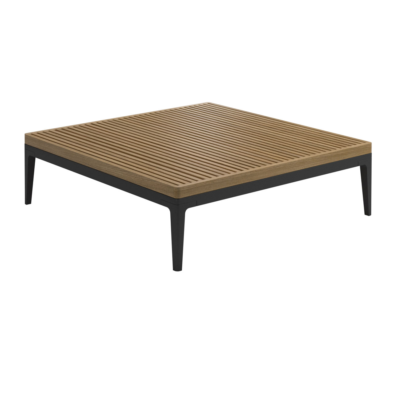 Mobilier Exterieur Gloster Gloster Grid Lounge Square Teak Coffee Table