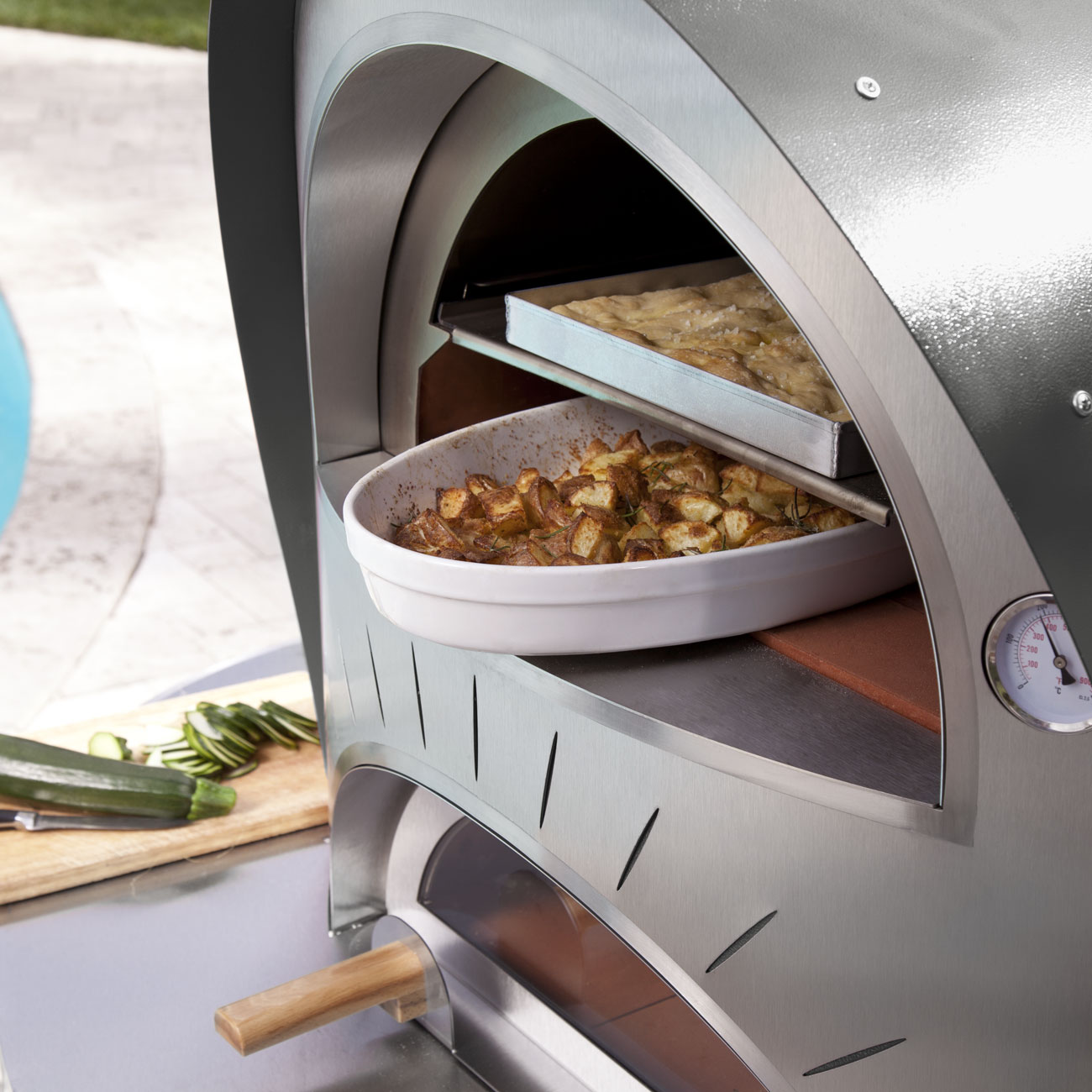 Alfa Living Alfa Living Wood Fired Duetto Pizza Oven Luxury Outdoor