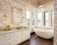 How To Get A Gold And White Luxury Bathroom Interior Design