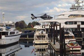 Superyacht Attessa Docks In Victoria BC