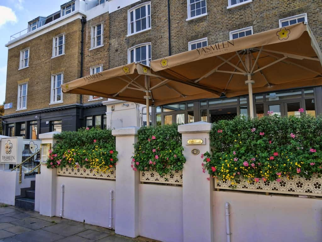 A luxurious lunch at yasmeen restaurant for 1 blenheim terrace london nw8 0eh