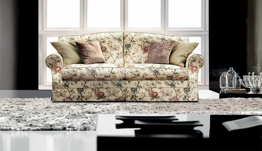 Schlaf Ecksofa Two Seater Sofa With A Frame Made Of Natural Wood Paris