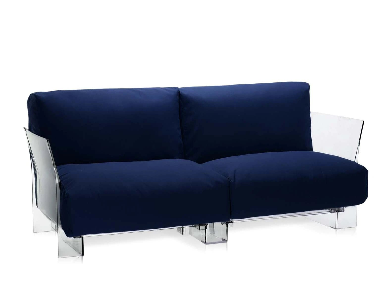 Sofa Pop Two Seater Sofa In Fabric Pop Outdoor Kartell Luxury