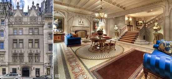 Clock Over Fireplace A $90 Million French Gothic Townhouse For Sale In Manhattan