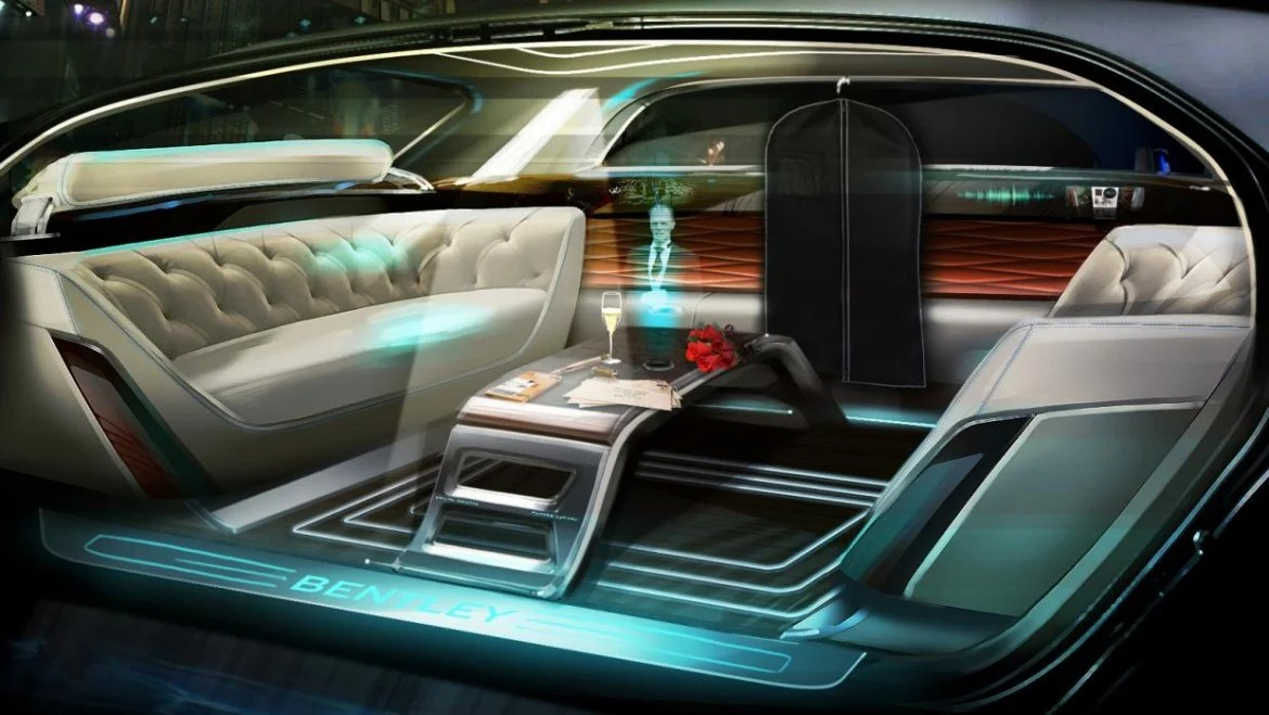 Seats And Sofa Bentley Shows Us How Self-driving Limos Could Look 20