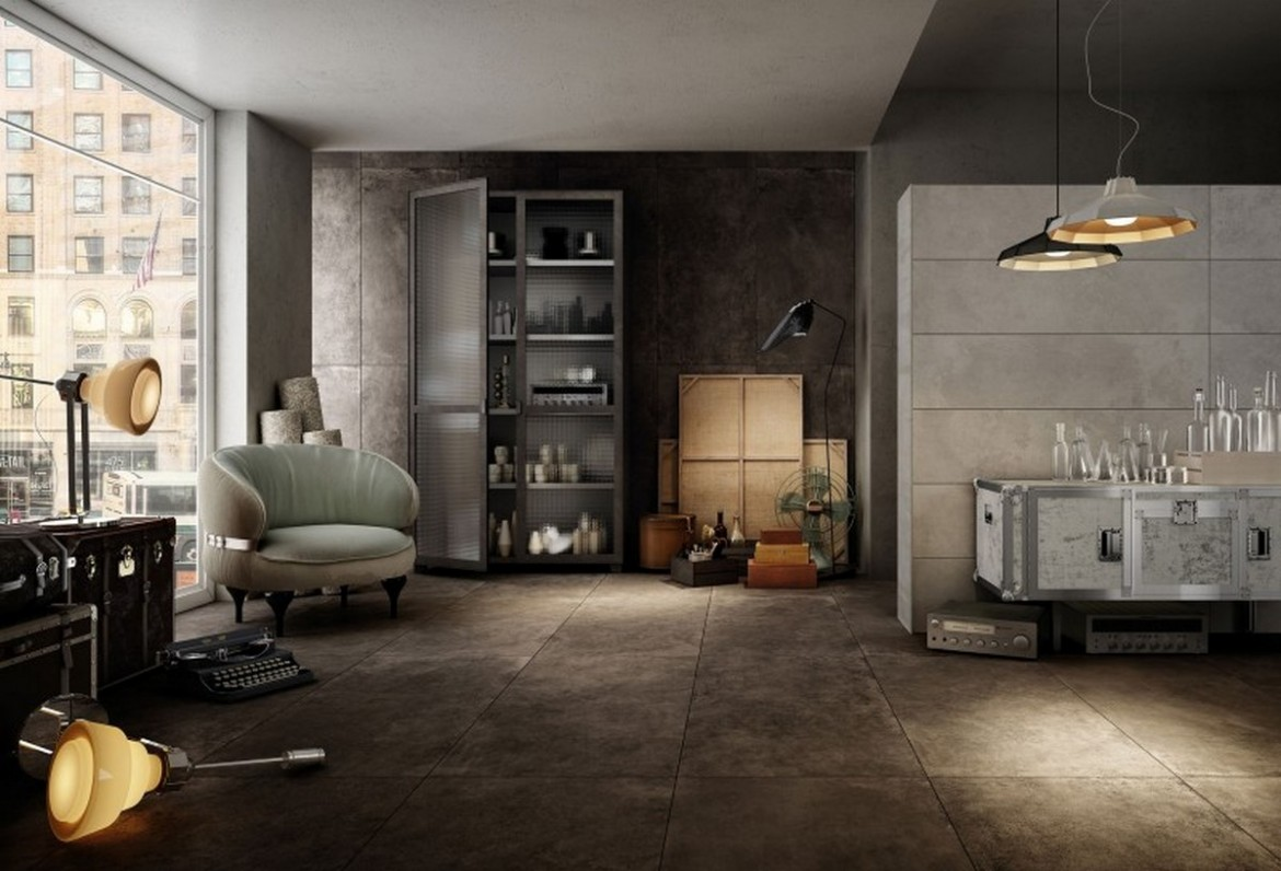 Living Bagno Diesel Living And Iris Ceramica Gives Birth To Floor And