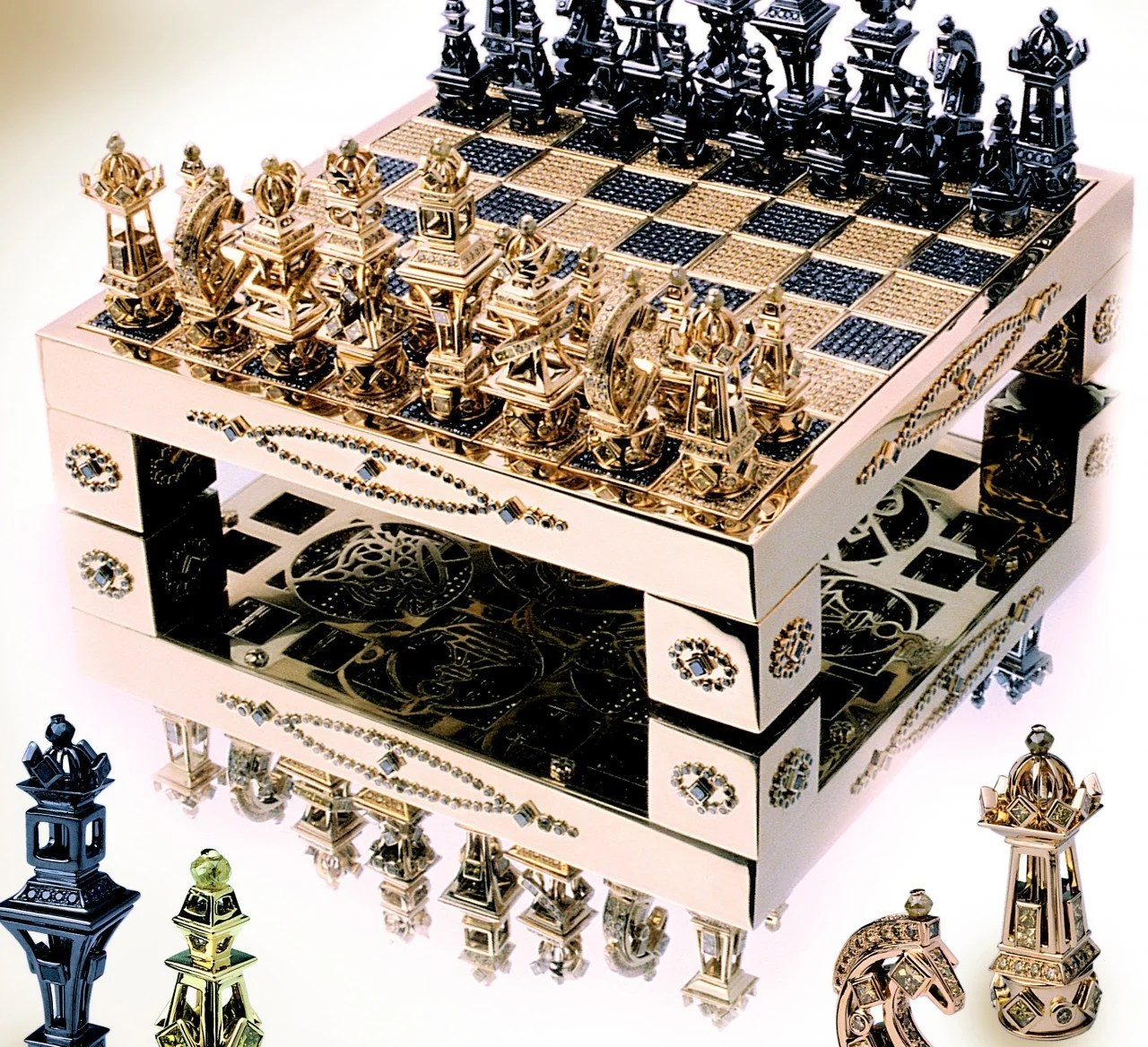 Fancy Chess Set Fancy A Solid Gold Diamond Encrusted Chess Set For 370 000