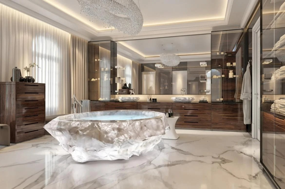 Extravagant Bathrooms This Exotic Holiday Villa In Dubai Comes With A 1m Bathtub