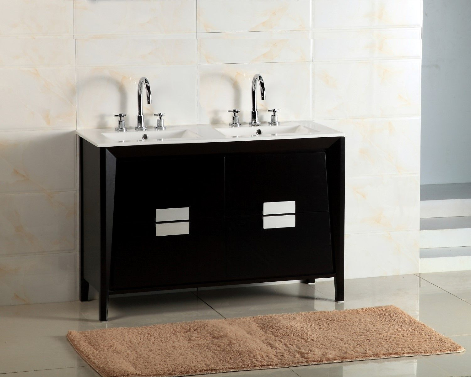 Bellaterra Home 500410 Es Wh 48d 48 Inch Double Sink Vanity White