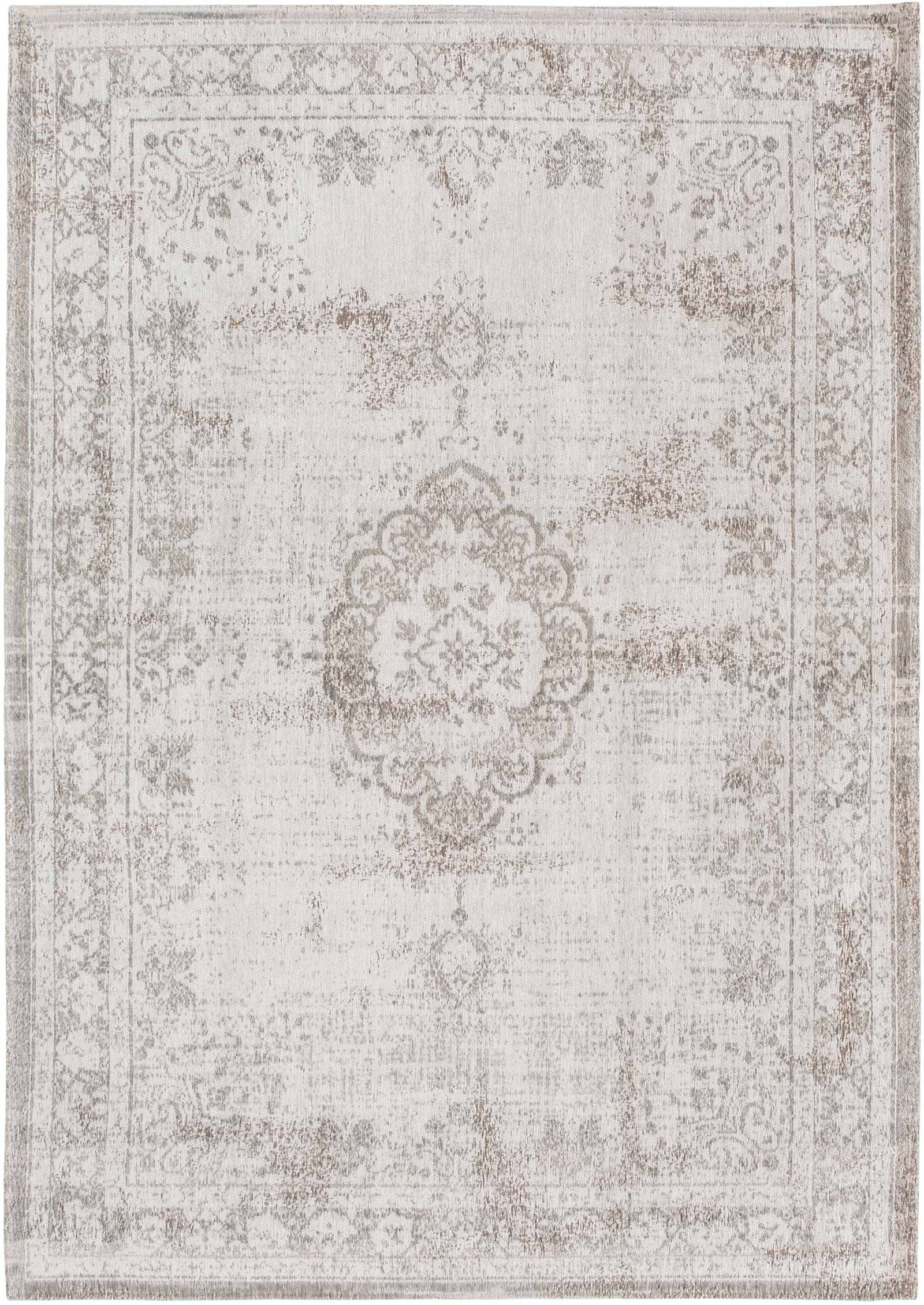 Louis De Porterre Teppiche Louis De Poortere Rug Fading World Salt Pepper 8383 Medallion Design