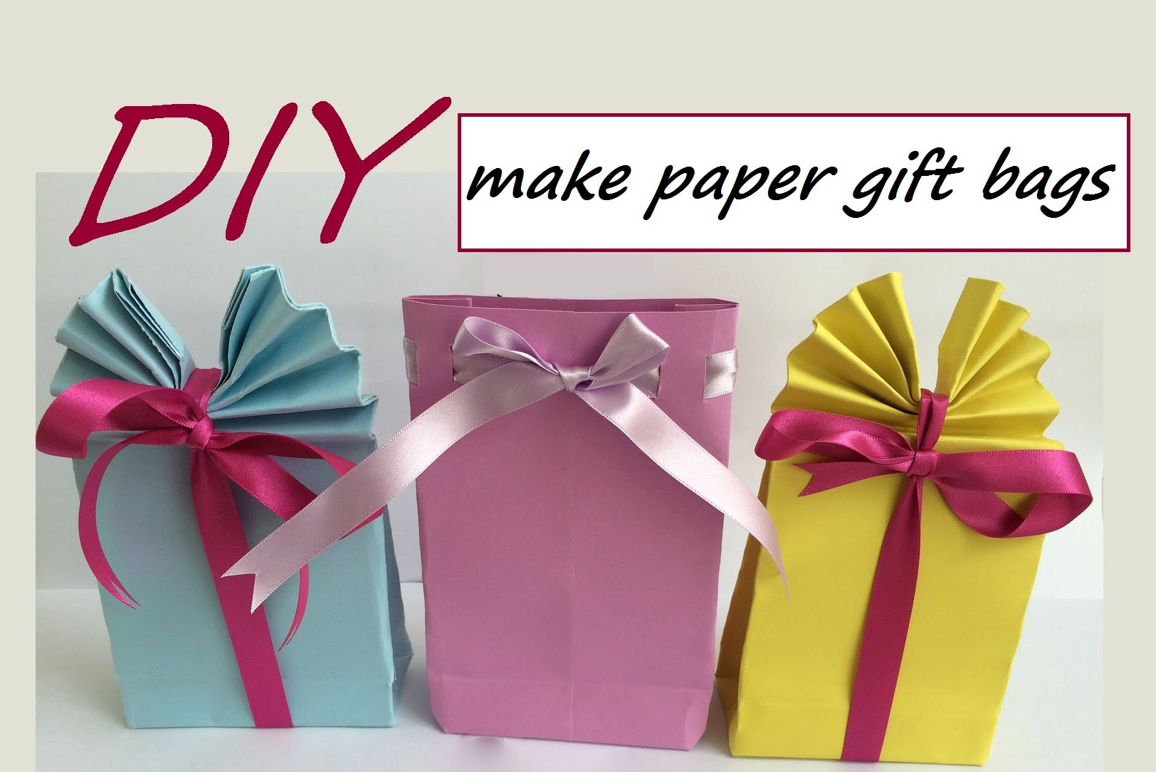Paper Gift Bags Diy Craft Paper Gift Bag Diy Do It Your Self