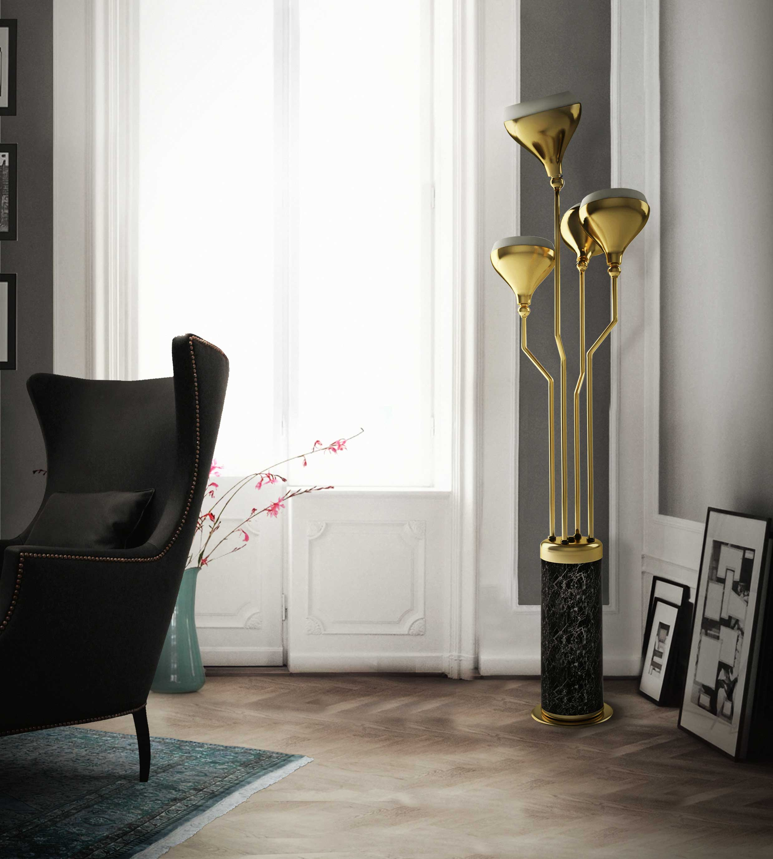 Corner Lamps For Living Room Gold Floor Lamps To Give Your Home A Fancy Look
