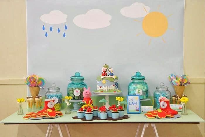 Peppa Pig Y George Mesas De Dulces Pasteles Cupcakes