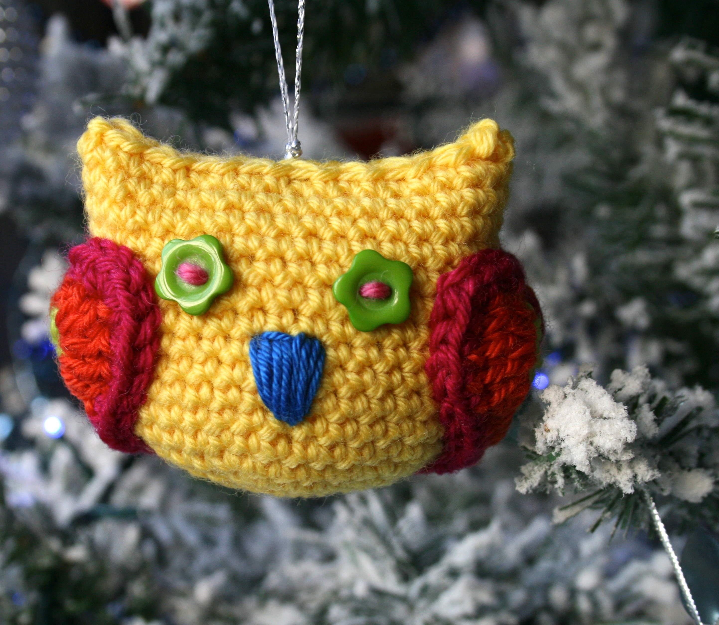 Amigurumi Owl Family : Cuteness alert! Christmas Owl Tree Decoration, - Luz Patterns