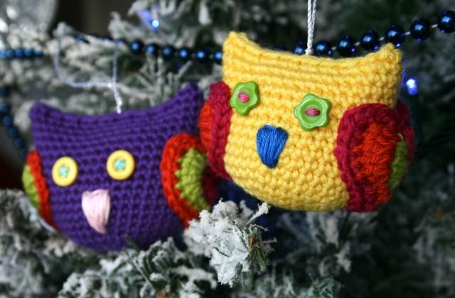 Amigurumi Owl Wings : Cuteness alert! Christmas Owl Tree Decoration, - Luz Patterns
