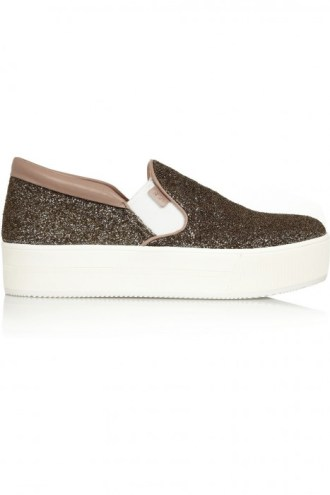 glitter finish slip on