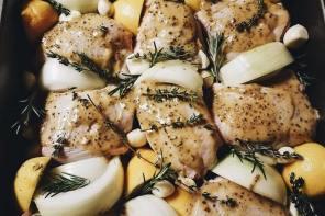 Garlic and Lemon Roasted Chicken with Mustard and Maple Glaze, LVBX Magazine