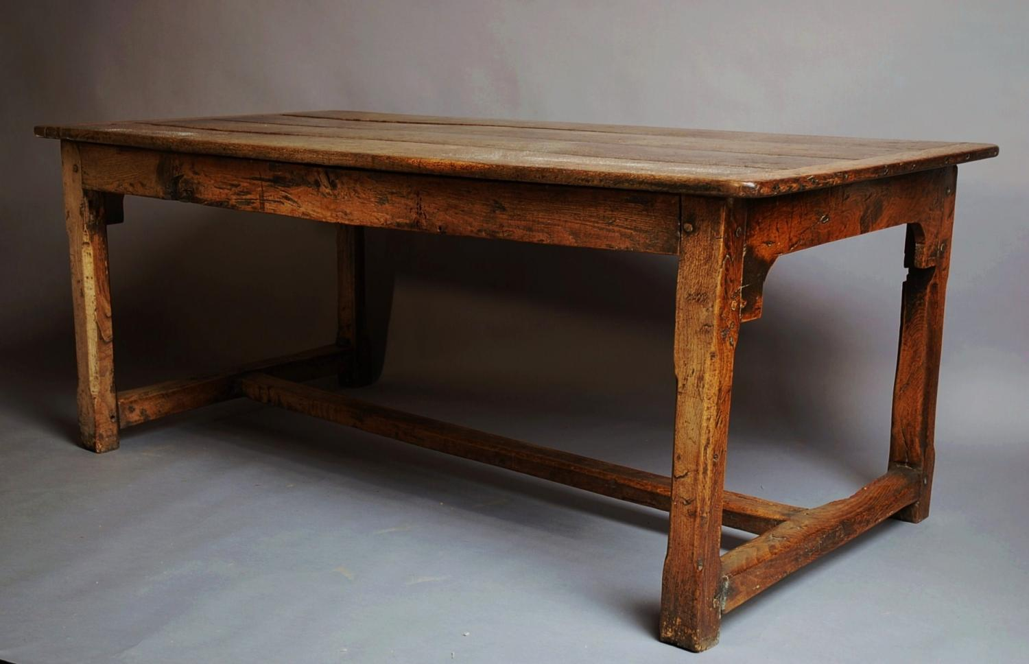 Farmhouse Table Company Oak Farmhouse Table Of Superb Patina In Sold Archive