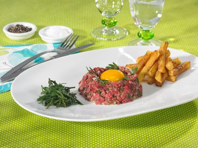 Tartare de bœuf à la criste-marine / restaurant l'Armen à Brest.