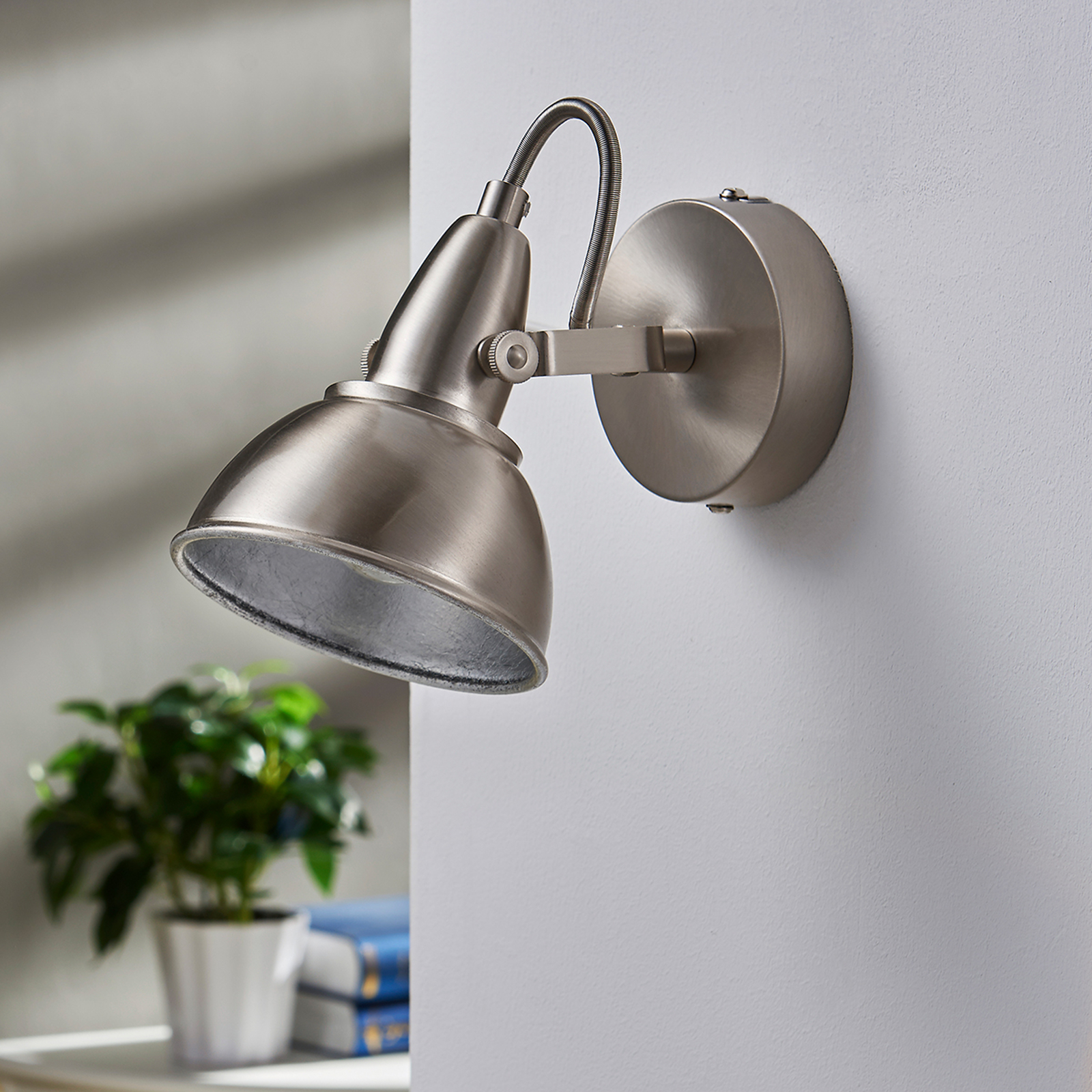 Vintage Look Attractive Wall Spotlight Julin With Vintage Look | Lights.co.uk