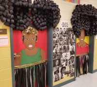 black history door decorations   Decoratingspecial.com