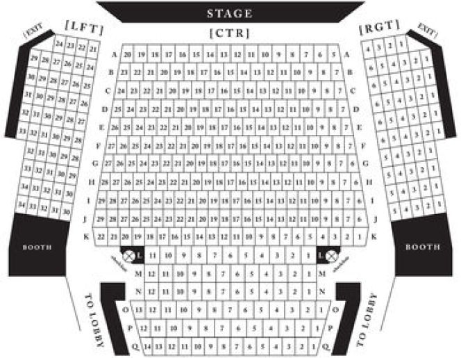 Lyceum Seating Chart