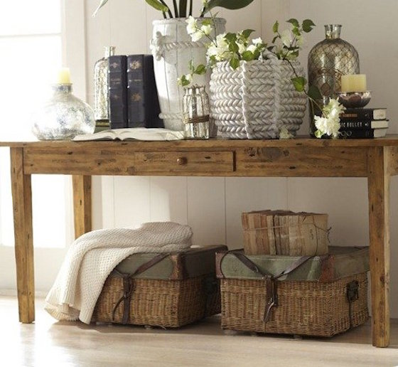 Foyer Table Pottery Barn : Entryway table decor inspiration lydi out loud