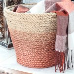 DIY Metallic Rope Throw Basket