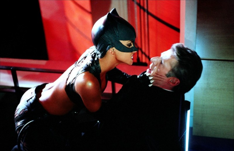 Catwoman Halle Berry as Catwoman attacks Lambert Wilson