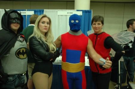 Baltimore Comic Con 2013 - Batman, Black Canary, Atom Smasher and Wasp