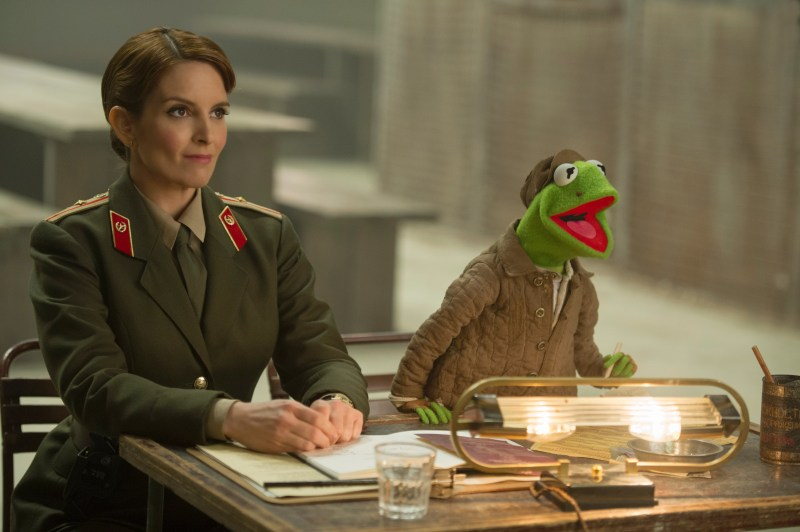 Jay Maidment/Disney Enterprises, Inc. Nadya (Tina Fey) and Kermit the Frog host auditions.