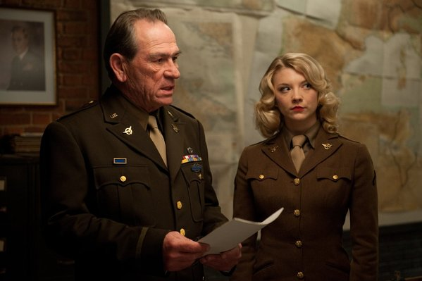 Captain America the First Avenger Tommy Lee Jones and Natalie Dormer