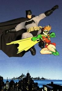 Mezco Dark Knight Returns Batman figure with Robin