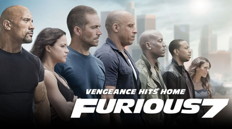 Furious 7 movie poster - Paul Walker, Dwayne Johnson, Vin Diesel