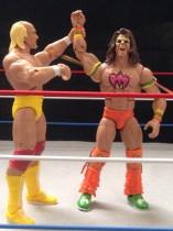Hulk Hogan Defining Moments figure - raising Warrior's hand