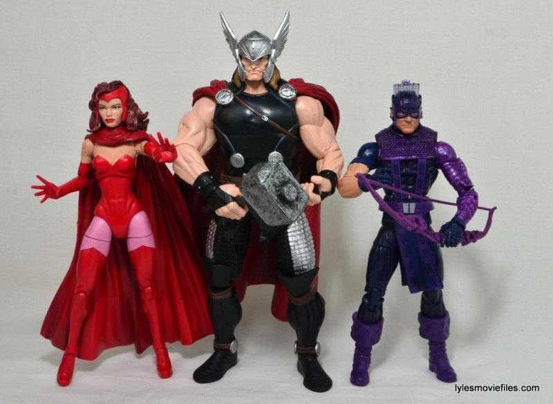 Marvel Legends Thor figure review - with Scarlet Witch and Hawkeye